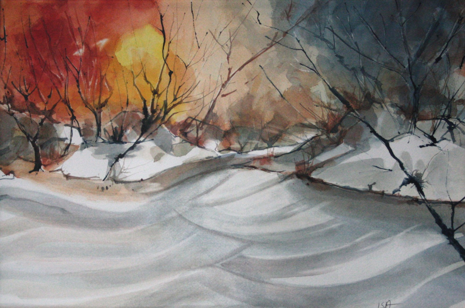 Tramonto invernale (25x35)