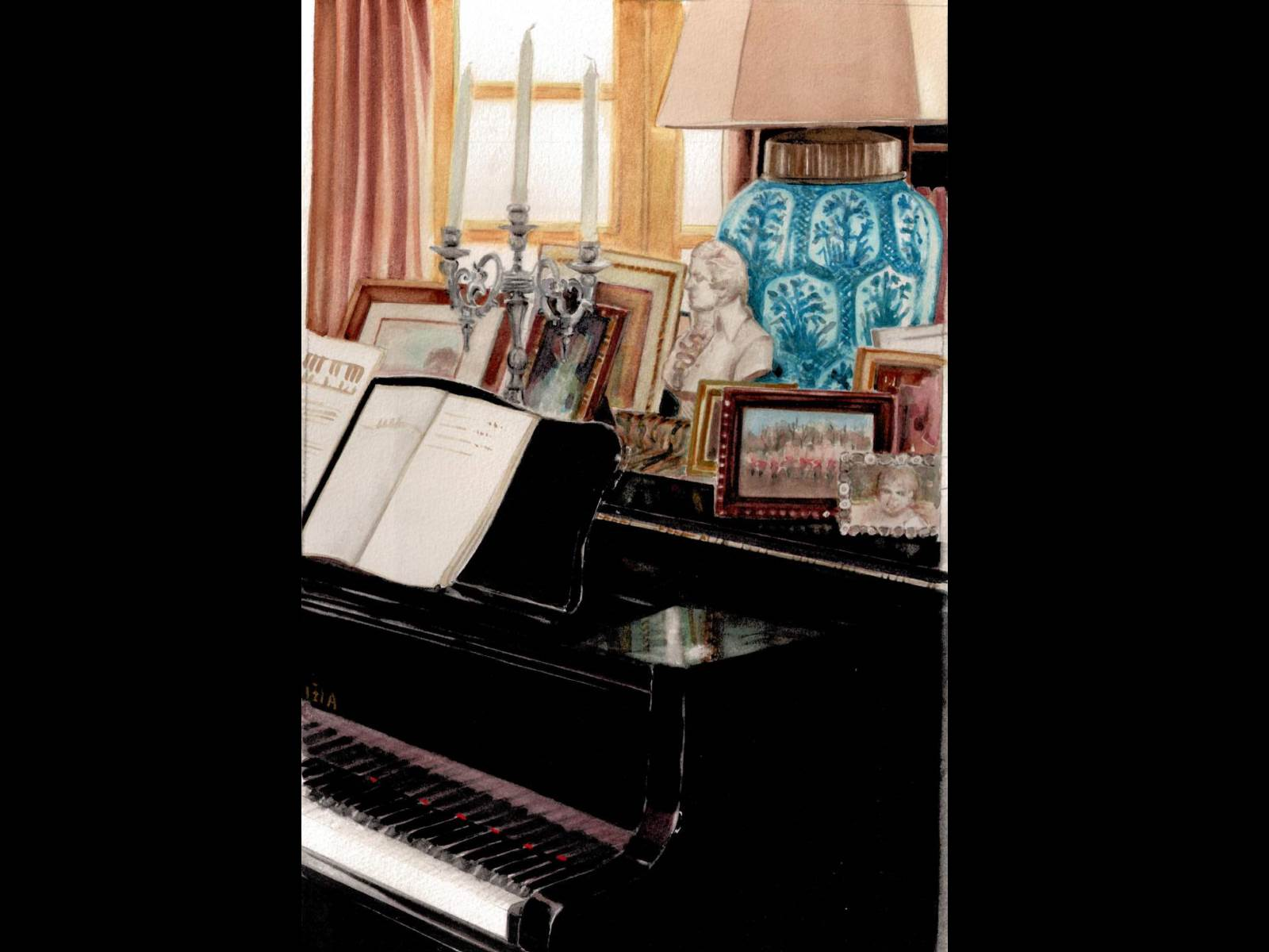 Interno con pianoforte (25x37)